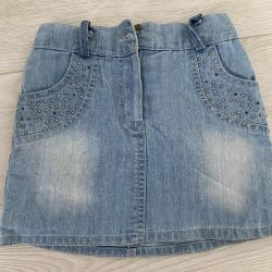 Denim skirt 98-116 cm