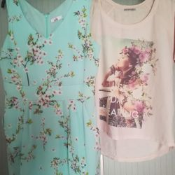 Μπλουζάκι και καλοκαιρινό φόρεμα