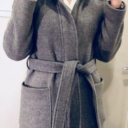 Gri sıcak yün ceket Massimo Dutti S / M