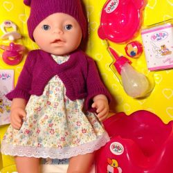 Doll Baby Born (Doll) with a magic pacifier