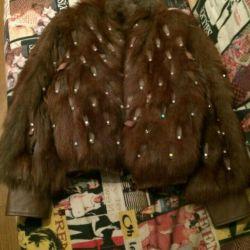 Şık tilki ceketi. yeni