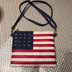 omuz çantası amerikan bayrağı