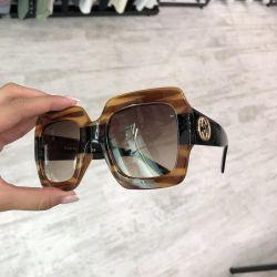 Gözlük Gucci kare kahverengi süit