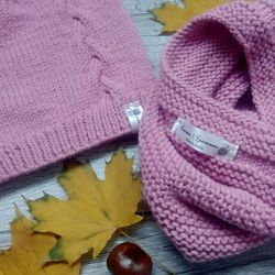 Set autumn hat LIC, handwork