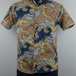 Рубашка мужская (100% хлопок)