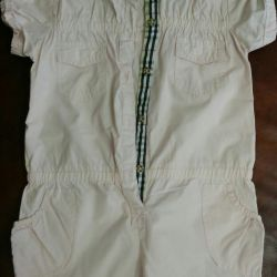 Summer semi-overalls for a girl 5-7 years old