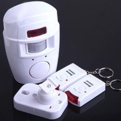 Alarm for home with a motion sensor on the remote control