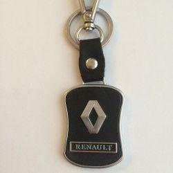 Кожаный брелок Renault