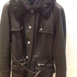Sheepskin coat female genuine leather
