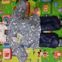 Overalls-transformer for children winter (spring)