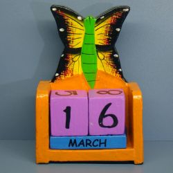 Календарь Бабочка. 10 см, дерево