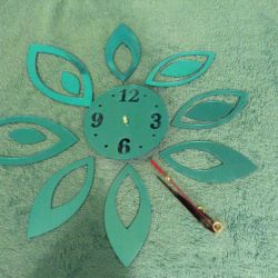 Wall clock from acrylic mirrors, new