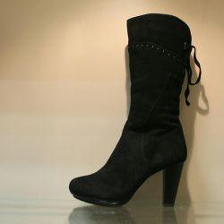 80. Winter boots p.36,37,38 suede, nat.meh