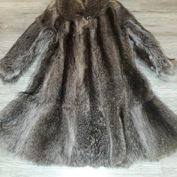 Γούνα παλτό ρακούν.