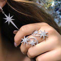 Cercei și inel Brațul Monaco. Argint 925 *