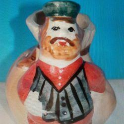 Figurină din porțelan, comerciant de creioane