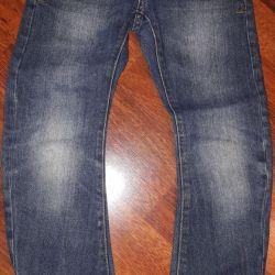 Erkek kot pantolon, Orby, mavi, kullanılmış, yükseklik 128
