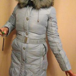 Sentetik kışlık montlu kadın ceket