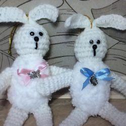 вязаные Зайчики и мишки