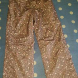 Pants warm on a thin fleece. Size 140cm.