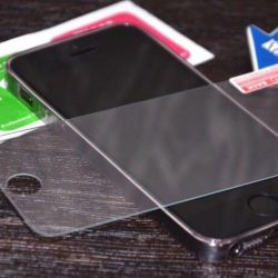 Safety glass for iPhones, sticking as a gift