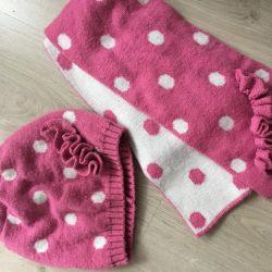 Комплект шарф и шапка на 6-8 лет
