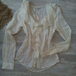 Μπλούζα από μετάξι GANT