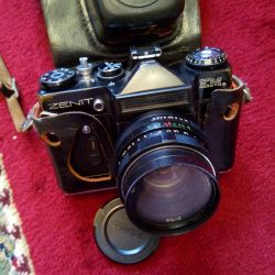Camera Zenit EM with a complete set without a lens