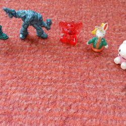 figurines toys baby elephant kitty hare