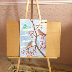 Children's easel for drawing