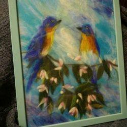 Картина в стилі вовняна акварель