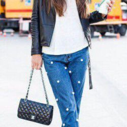 Jeans with new beads