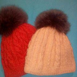 Winter wool hat (handmade)