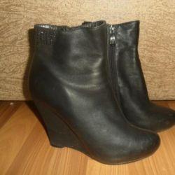 Αγκώνας μπότες γνήσιο δέρμα p. 36-36.5