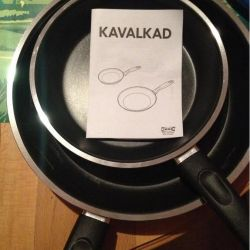 Pan, gray. Diameter 26 cm. Teflon. Sweden.