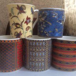 Collectible mugs.
