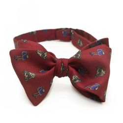Silk bow tie made of natural silk