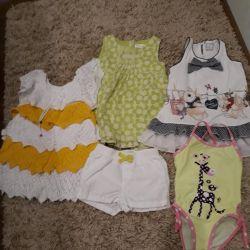 Пакет одежды летней на девочку