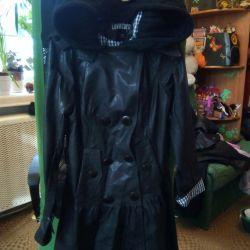 Νέο. Δερμάτινο παλτό