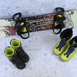 Burton Blunt 155 cm snowboard + bindings + boots
