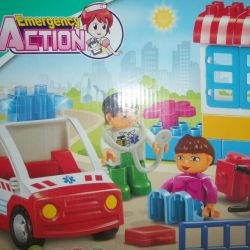 The designer the Ambulance - analog of Lego Duplo