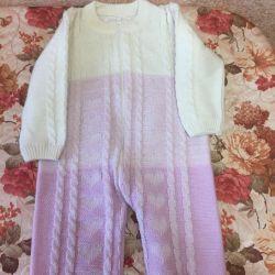 Undercoat overalls (wool mixture) 9-12 months