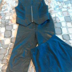 Δερμάτινα παντελόνια. Τρία κοστούμια (σουέτ δέρμα) 44-46