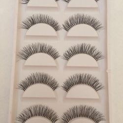 Five pairs of eyelashes
