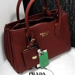 Prada τσάντα κόκκινο νέο