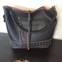 New bag chocolate brown leather new