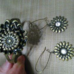 Σκουλαρίκια και βραχιόλι