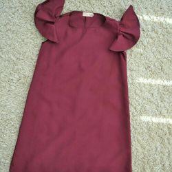 Φόρεμα με μανίκια χωρίς μπορντό μαρσάλα