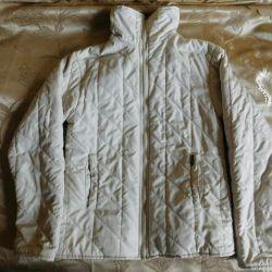 Jacket milk color for a girl