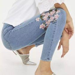 Jeans cu broderie 2018